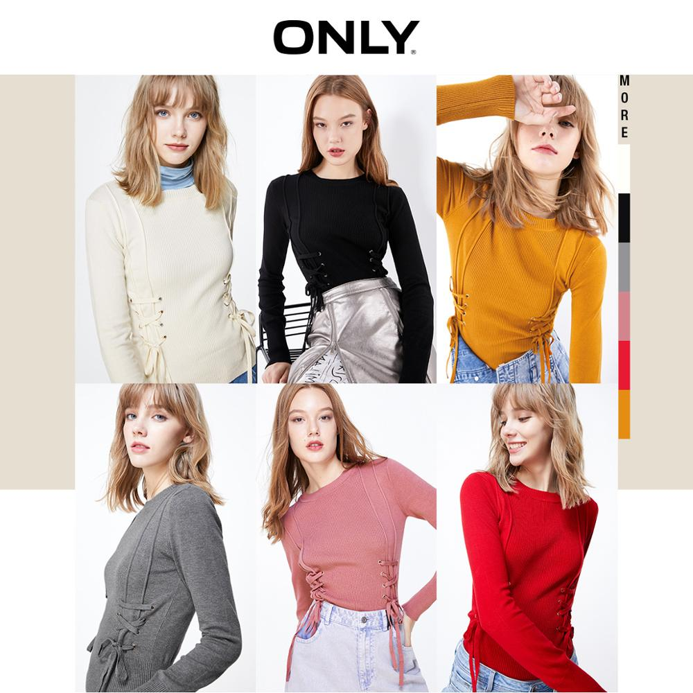 ONLY  Autumn Winter Women's Slim Fit Lace-up Thin Knit | 119324566