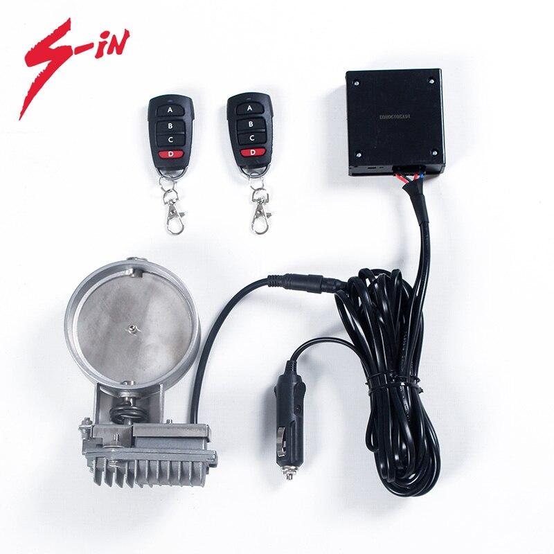 valvula de escape 2 0 polegada 51mm silenciador recorte valvula s304 valvula de escape eletrico cortar