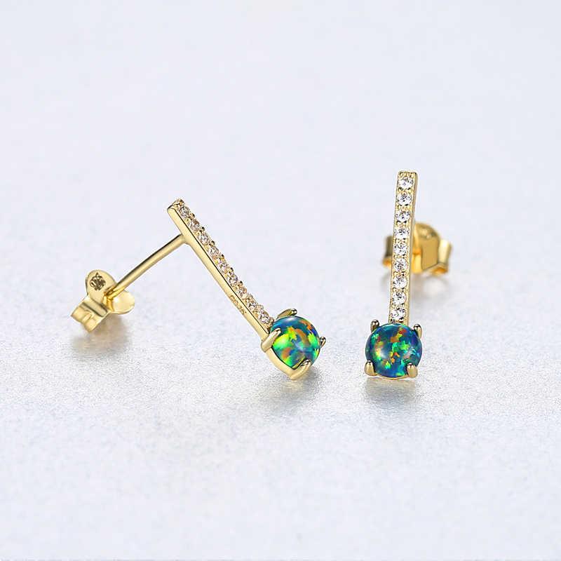 Najwyższej jakości 925 Sterling Silver moda proste niebieski kwadrat stadniny kolczyki dla kobiet dziewczyna biżuteria kolczyki