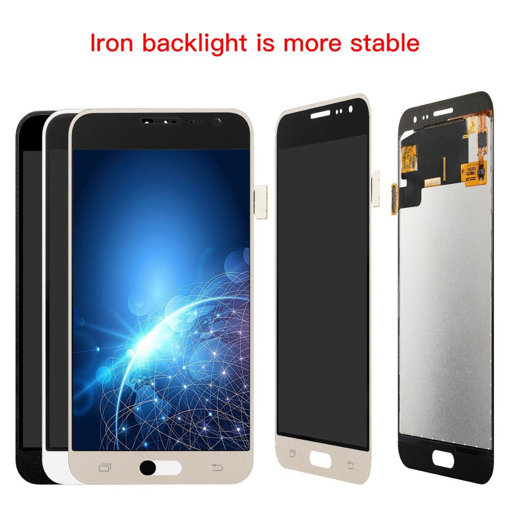 Can adjust brightness Iron LCD For Samsung J3 2016 lcd J320 J320FN J320F J320G LCD Display and Touch screen Digitizer Assembly image