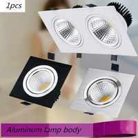 Platz Helle Einbau Doppel LED Dimmbare Platz Downlight COB 10W 20W LED Spot licht dekoration Decke Lampe AC 85-265 V