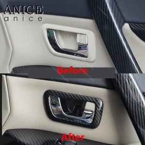Image 3 - Цветные дверные ручки из углеродного волокна, крышка чаши для Mitsubishi PAJERO 2007 2008 2009 2010 2011 2012 2013 2014 2015 2016 2017 2018 2019