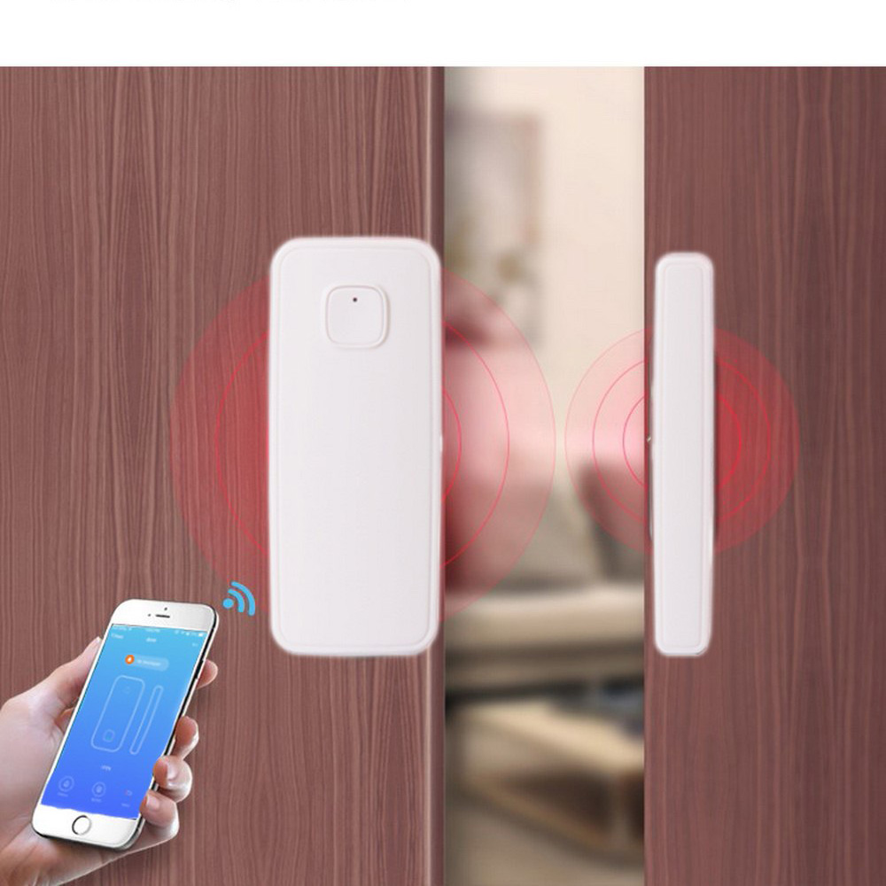 Smart Home Tuya Door Alarm WIFI Door Window Sensor Real-Time App Control Intelligent Life Compatible Amazon Alexa Google Home