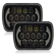 Popular Offroad Front Headlamp DRL Turn signal 5x7 square headlight bulb rectangular led truck light for Jeep 7inch pair 5x7 auto drl led headlamp 5x7 inch led truck headlight 7inch high low beam square led headlight for jeep cherokee xj