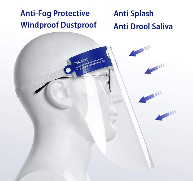 disposable Clear face shield  Mask Cover Prevent Saliva Safety protective mouth plastic shield face mask  visor 3