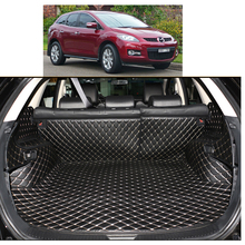 Lsrtw2017 Leather Car Trunk Mat Cargo Liner for Mazda Cx-7 cx 7 2006 2007 2008 2009 2010 2011 2012 2013 Carpet Accessories cover