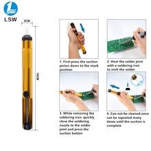 Aluminium Metall Entlötpumpe Saug-Zinn Gun Löten Sucker Stift Entfernung Vakuum Löten Eisen Desolder Hand Schweißen Werkzeuge