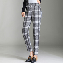 Bohoart Winter Thick Woolen Female Harem Pants Col