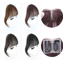 Salonchat не-Реми Хай человеческие волосы женские короткие поддельные волосы челка девушки женские волосы невидимые бесшовные морские головы Замена