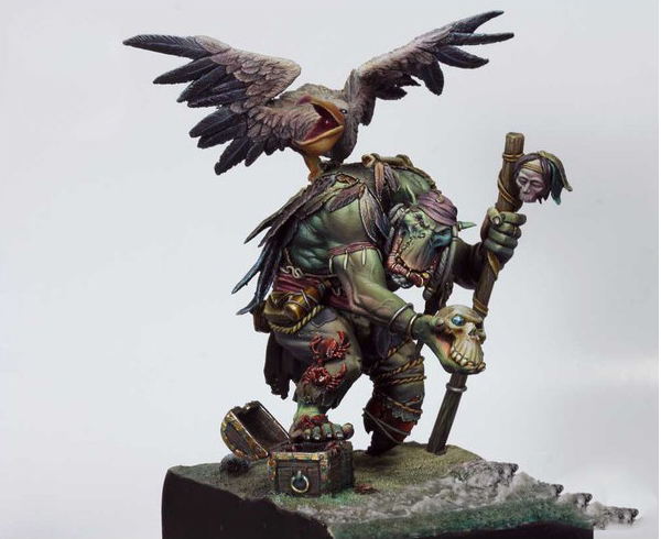 1/24 75mm   Ancient Warrior Stand With Bird With Base 75mm  Resin Figure Model Kits Miniature Gk Unassembly Unpainted