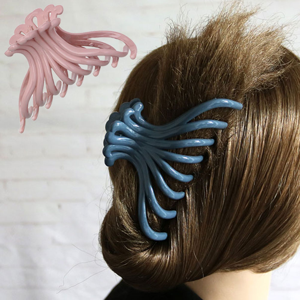 Scrub Clamp Womens Large Ladies Hair Barrette Hollow Claw Clip Crab Plastic