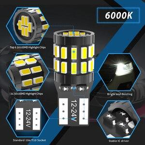 Image 2 - Katur 10Pcs T10 LED Canbus W5W LED Bulb Auto Lamp 3014 30SMD Car Interior Light 194 168 Light Bulb White Red Yellow No Error 12V