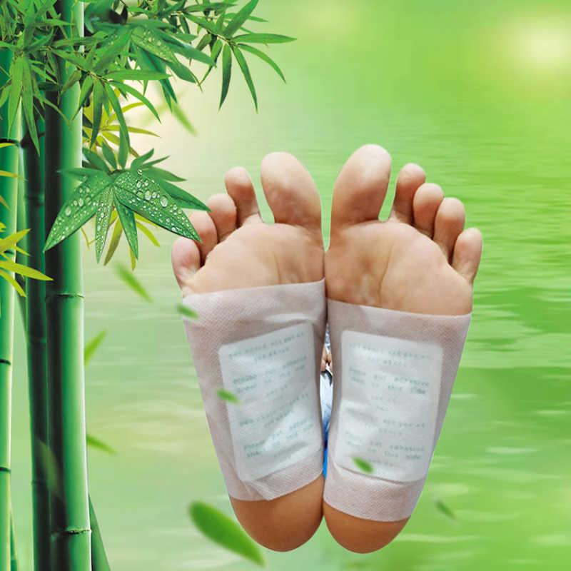 Kinoki Detox Foot łatki Artemisia Argyi podkładki toksyny stopy odchudzanie oczyszczanie ziołowe zdrowe ciało podkładka samoprzylepna utrata masy ciała