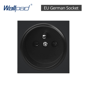 DIY EU UK Wall Socket Push Button Switch Electrical Outlet Black Function Key Only Free DIY 55*55mm S6 Series Wallpad 20