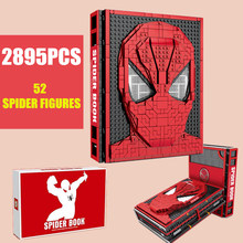 Bricks Toys Collections-Book Building-Blocks Spider-Heroes 52-Figures Christams Super