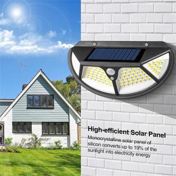 Lampa ścienna na energię słoneczną indukcja człowieka światło cztery boki oświetlenie wodoodporne zewnętrzne oświetlenie zewnętrzne i oświetlenie tanie i dobre opinie oobest