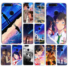 Lavaza Anime Your Name Kimi No Na Wa Hard shell Phone Case for Honor 6A 6C 7A 7C 7X 8 8X 8C 8A 9 9X Lite 10 20S 20 Pro(China)