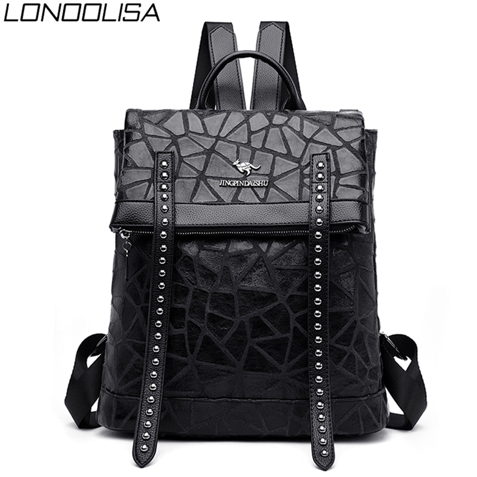 Fashion Brand Women Travel Backpack High Quality Luxury Soft Leather Backpack Multifunction Ladies Backp Pack Bolsos Para Mujer