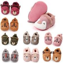 0-18M Baby Shoes Toddler Winter Spring Non-Slip Warm Soft Fleece Shoes Newborn Prewalker