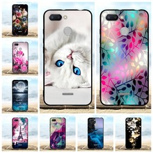 For Xiaomi Redmi 6 Phone Case Slim Soft TPU Silicone Cover Cartoon Patterned Shell Funda