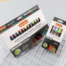 15 Kleuren Metallic Pen Permanente Acryl Verf Markers Voor Doodling Grenzen Patronen En Ambachtelijke Projecten/Gebaseerd Waterdichte Markers