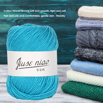 Soft Rival Line Knitting Tape Yarn Thread 50g/roll Cotton Thin Yarn for Crochet Stitching Knitting Soft DIY Baby Thread image