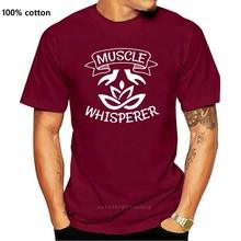 T-Shirt in cotone da uomo nera per massaggiatori muscolari S-3Xl M Xl 2Xl 18Xl