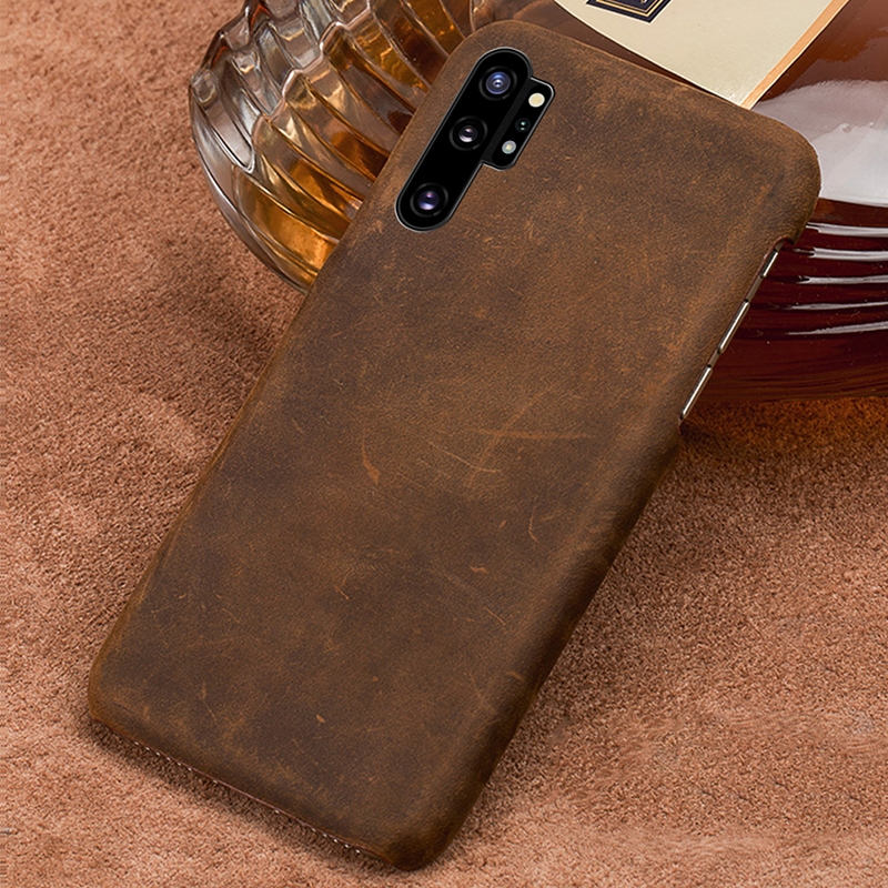 Genuine PULL-UP Leather phone case for Samsung galaxy Note 10 Note 10 Pro A50 A70 A10 A30 A40 A8 A9 2018 S10 S7 S8 S9 Plus cover
