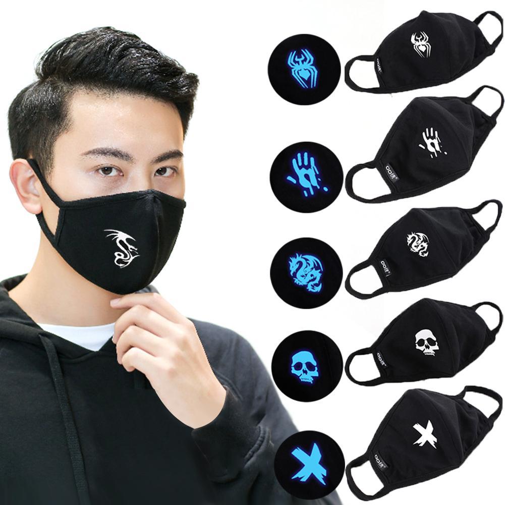6PCS Novelty Personality Luminous Mask Illuminating Halloween Dress For Men Women