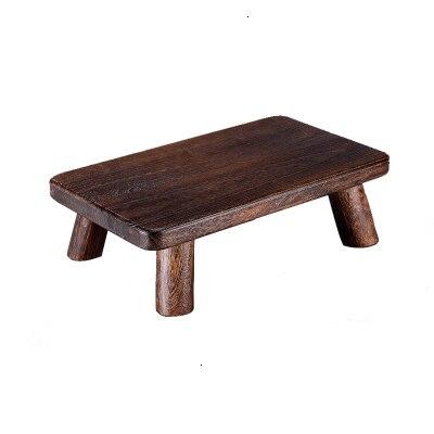Japanese Style Burning Tung Tree Window Table Tatami Small Tea Table Solid Wood Tea Table On The Bed Desk Short Platform Tea