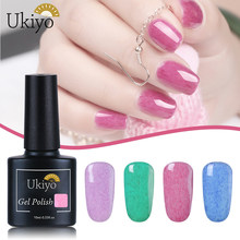 Ukiyo-e 10 Ml Gel Nail Polish Bulu Imitasi Efek Gel Varnish Rendam Off UV LED Gel Cat Seni Kuku Semi permanen Pernis Enamel Lacquer(China)
