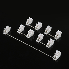 Plate mounted white Gateron Stabilizers Clear Satellite Axis 7u 6.25u 2u  For Mechanical Keyboard Modifier Keys