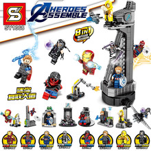 SY1368 miracle avenger 4 heroes 8 in 1 mini building set blocks childrens educational toys gifts