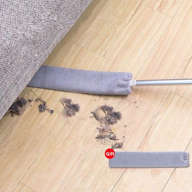 Limpieza Hogar Bedside Dust Brush Long Handle Mop Household Bed Bottom Gap Clean Fur Hair Sweeping Dusty Magic Microfibre Duster 1