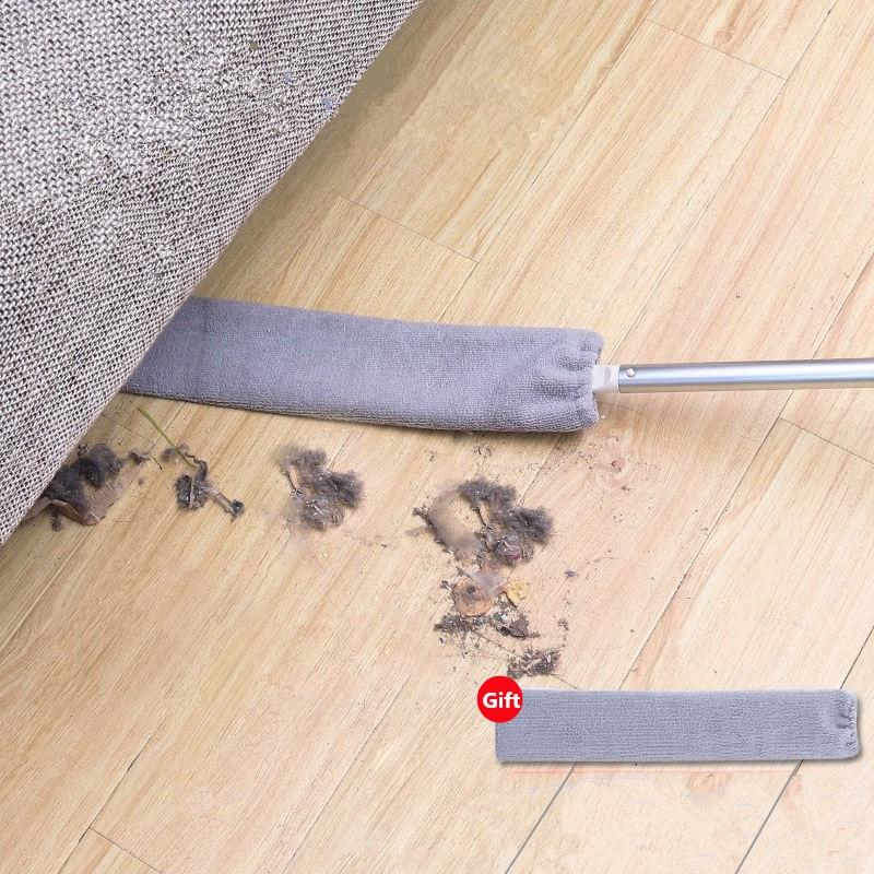 Limpiador Hogar cepillo de polvo de mesita de noche mopa de mango largo cama de Hogar Fondo Gap Limpieza de pelo de piel de barrido polvo mágico microfibra plumero
