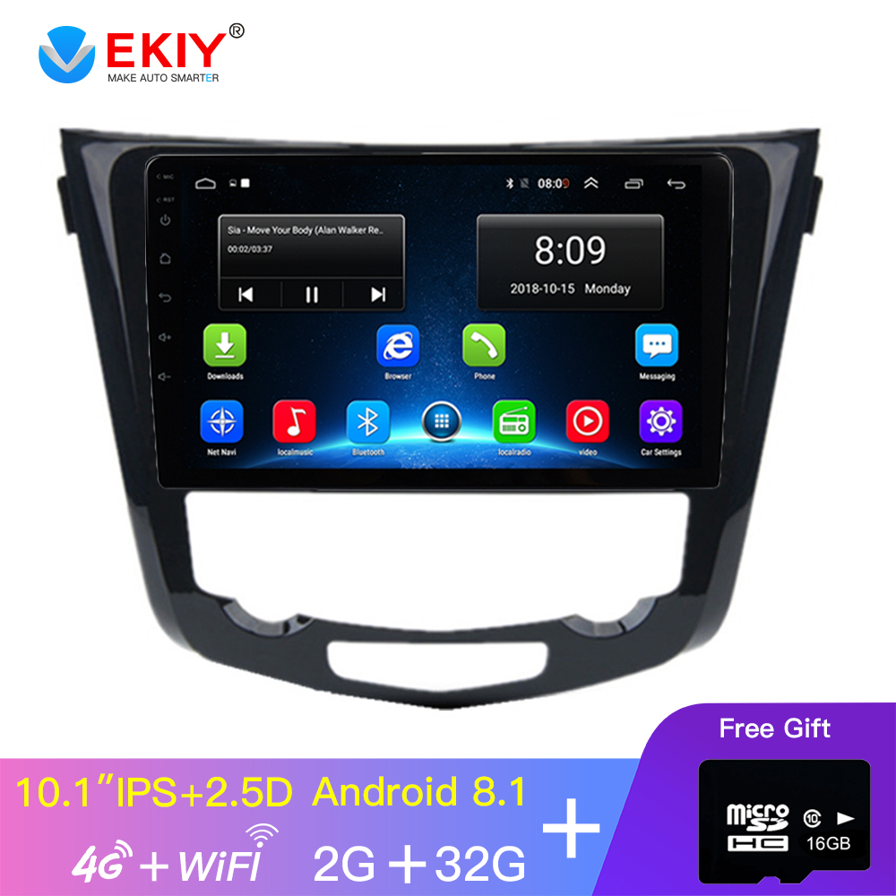 EKIY 10.1' IPS Car Radio Android No 2 Din Auto Car Multimedia Player For Nissan X Trail 2014 2015 2016 GPS Navigation 4G Modem image