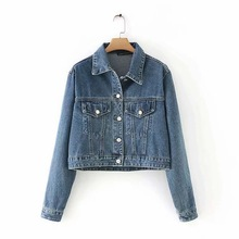 Autumn Spring Washed Loose Denim Jacket For Women Casual Street Clothes Fashion Female