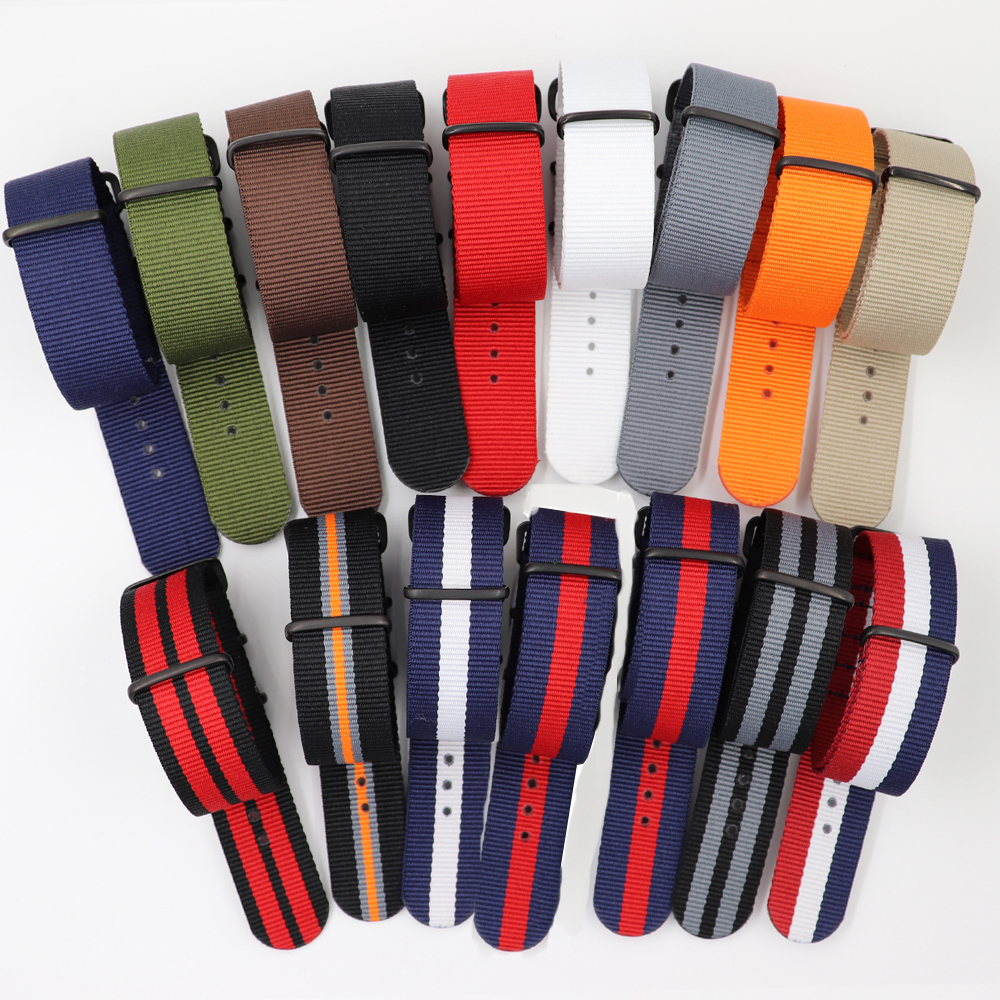 NATO solid strip Green Navy watchbands 18mm 20mm 22mm 24mm Men Women <font><b>watches</b></font> <font><b>strap</b></font> band <font><b>PVD</b></font> black buckle belts image