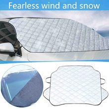 Araç ön camı kar kapağı güneş gölge koruyucu kalın kar koruma kapağı araba kar buz koruyucu vizör cam kar örtüsü