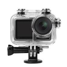 Sunnylife Spor Kamera 60M Su Geçirmez Kılıf Dalış Kabuk Konut DJI OSMO EYLEM Sualtı Kapak Dalış Filtreler Aksesuarı
