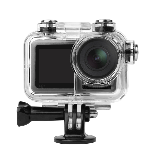 Sunnylife Sport Camera 60M Waterproof Case Diving Shell Housing for DJI OSMO ACTION Underwater Cover Diving Filters Accessory