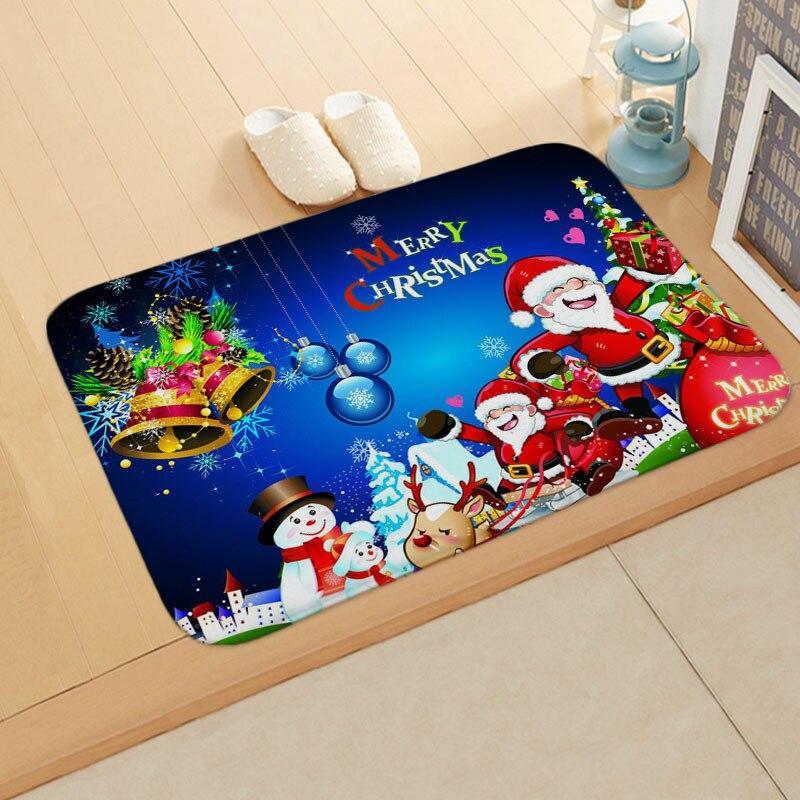 Рождественский коврик Новый рождественский уличный Придверный
