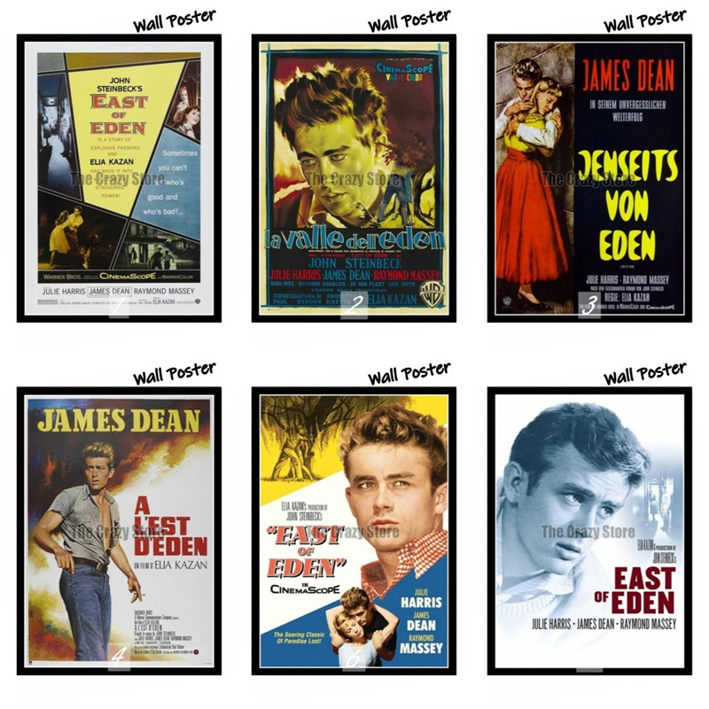 East of Eden Classic Movie White Kraft Paper Painting Art Print Poster Wall Picture For Home Decor 42X30cm in Wall Stickers from Home Garden