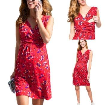 Womens Printed Pregnancy Dresses