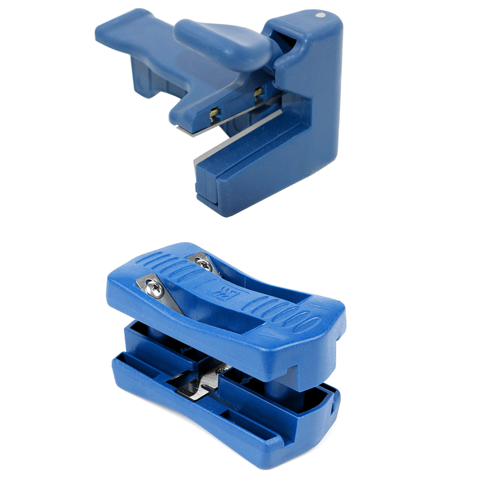 1 Set PVC Blue Double Edge Trimmer Wood Edge Banding Machine Manual Tail Trimming Woodworking Tool Carpenter Hardware Tools