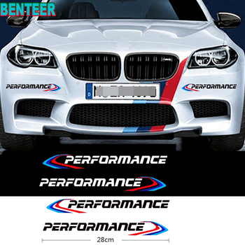 2pcs M Power M performance car sticker for bmw E38 E39 E46 E53 E60 E61 E64 E70 E71 E85 E87 E90 E83 F01 F10 F20 F21 F30 F35 image