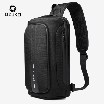 OZUKO Multifunction Men Chest Bag Anti-theft Male Sling Bags Waterproof Crossbody Messenger USB Charging Outdoor Pack