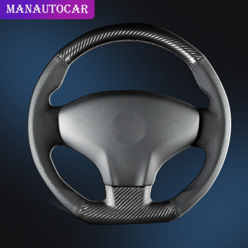 <font><b>Car</b></font> Braid On The Steering <font><b>Wheel</b></font> <font><b>Cover</b></font> for Citroen Elysee C-Elysee 2014 New Elysee Peugeot 301 2013-2016 Auto <font><b>Covers</b></font> <font><b>Car</b></font>-styling image