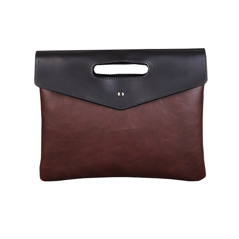 Leader Business Bag Handbag Men Briefcase Work Office Pu Bags For Man Fashion Designer Bag Brown 2020 Spring 0090