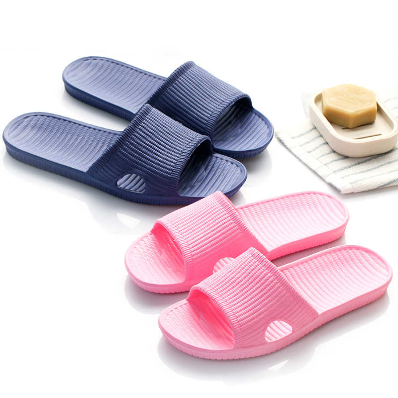 Männer Frauen Hausschuhe Indoor Sommer Komfortable Badezimmer Hausschuhe 2020 Neue Mode Bad Indoor Hause Hausschuhe Frauen Männer Schuhe
